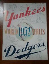 1952 World Series Program Yankees Dodgers Mickey Mantle Jackie Robinson Reprint