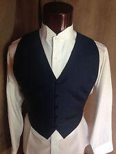 Navy Dark Blue Black Basketweave Tuxedo Vest One Size Fits All