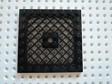 Lego 1 x Platte Gitter 4151b  schwarz 8x8 mit Loch  6860 8107 7678 75042