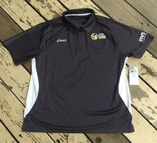 FIVB X ASICS World Series of BEACH VOLLEYBALL • Mens Polo Golf Shirt LARGE • NWT