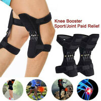 2X Joint Support Brace Knee Pads Booster Lift Squat Sport Power Spring Force