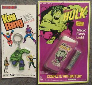 Marvel Incredible Hulk Toys Key Ring and Magic Flash Light unopened