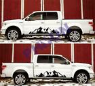 2x Car Side Body Vinyl Graphic Decal Sticker Snow Mountain For Truck Pickup Rv