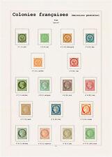 Album French Colonies en couleur avec pochettes. Pas de timbres. No stamps.