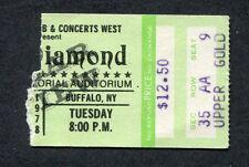 Original 1979 Neil Diamond concert ticket stub Buffalo NY September Morn