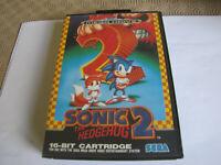 Vintage Sega Megadrive Sonic The Hedgehog 2 Game