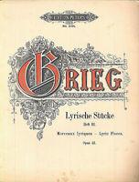 Grieg - Lyrische Stücke Heft III Opus 43