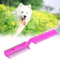 Pet Hair Trimmer Comb Cutting Cut Dog Cat w/ 4 Blades Grooming Razor Thinning US