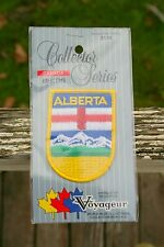 """Alberta Canada Embroidered Patch Mountains  Flag Badge Logo 2 3/4"""" x 2"""""""