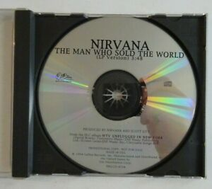 NIRVANA -  USA PROMO - THE MAN WHO SOLD THE WORLD ♦ 1995 CD MAXI - COVER BOWIE ♦