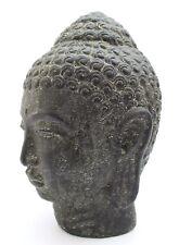 figurine en pierre 20 cm BOUDDHA Buste massif statuette temple sculpture jardin