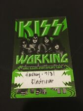 7/31 2010 KISS SONIC BOOM OVER EUROPE TOUR FABRIC BACKSTAGE PASS HERSHEY PA.