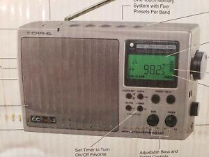 CC 2  Silver C Crane AM Fm Radio New In Box