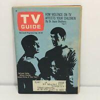 TV Guide August 24-30 1968 Star Trek: DeForest Kelley, William Shatner Magazine