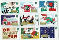 STARBUCKS Gift Card 2019 Christmas - YOU CHOOSE 3 for $1.95 - Holiday - No Value
