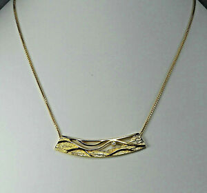 Halskette, Collier mit Diamant und Veneziakette in Gold 333