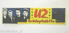 VECCHIO ADESIVO ORIGINALE / Old Original Sticker rock band U2 BONO VOX (cm 19x5)
