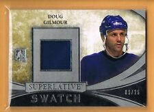 2015 ITG Superlative Doug Gilmour Game Used Jersey /25 Toronto Maple Leafs