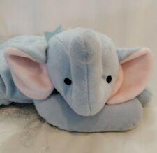 "Ty Elephant Plush Baby Blue Nursery Decor Pillow Pals Squirt 14"" Stuffed Animal"