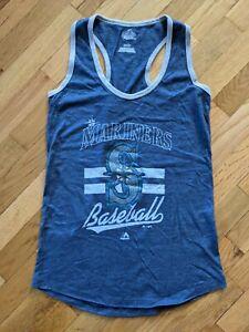 Seattle Mariners MLB Women's Crushing It Majestic Tank Top Shirt Small
