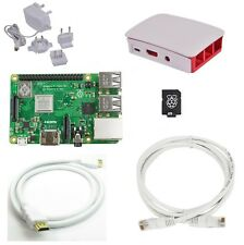 Raspberry Pi 3 Model B Plus (2018) - Official WHITE Case 16GB Starter Bundle