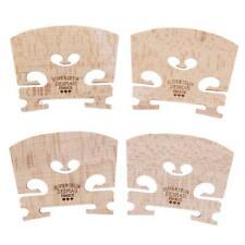4pcs Maple Wood Violin Bridges for 4/4-3/4 Size Violin Musical Instrument Parts