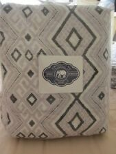 John Robshaw New, Never Used Grey Ginah Queen Quilt in Original Packaging