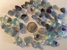 48.3 grams Beautiful Fluorite Quartz Crystal Chips Rough Polished Gravel