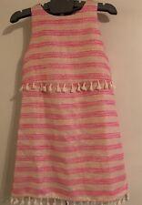 ff9551debd2 New GB Gianni Bini Girls Pink Gold Shimmer Sleeveless Dress Size 14  WithTassels