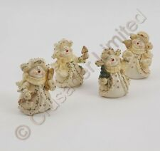 Set of 4, Christmas Ceramic Snowmen Figurines  NEW  15835