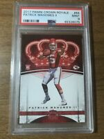 2017 Panini Crown Royale #84 Patrick Mahomes II Chiefs RC Rookie Card PSA 9 MINT