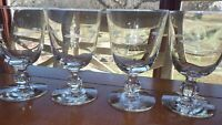 Water Goblets glasses Starglow by LIBBEY GLASS COMPANY 4 10oz etched glasses