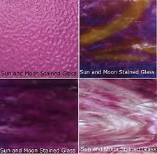 Wissmach Stained Glass Sheet Pack - 4 Sheets of PURPLE (8X10) - FAST SHIPPING!