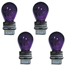 4x 3157 Purple Bright Light Bulbs Car Auto Signal Turn Backup S8 Miniature Lamp