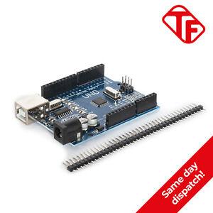 Arduino Uno R3 Compatible Microcontroller Headers Soldered ATmega328P CH340G