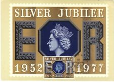 GB - GREAT BRITAIN 1977 SILVER JUBILEE PHQ CARD WITH 10p STAMP FDI WINDSOR CDS