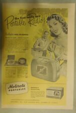 Motorola Ad: The First Really New Motorola Portable Radios! from 1948