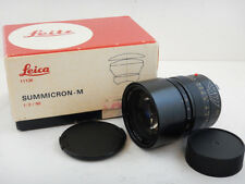 Leica Summicron-M 90mm f2 Lens - Black Obiettivo + Scatola BOX 11136 Caps Clean