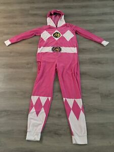 Power Rangers Footy Pajamas, Size Small/Medium Tall, Adult Pink Power Rangers Pj