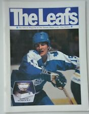 Toronto Maple Leafs vs. Winnipeg Jets NHL game program vintage 1982 hockey