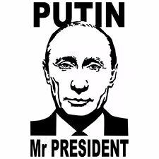 Putin Mr President Russia Wladimir Aufkleber Car Window Bumper Sticker Vinil 148