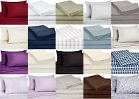 Bed Sheet Set Deep Pocket Bedding Sheets Egyptian Comfort Hotel 4pcs Twin 3pcs