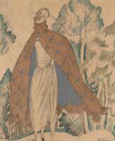 Gazette Du Bon Ton Mourgue LA VISITE A L'ERMITAGE Ruban Fashion POCHOIR Art Deco