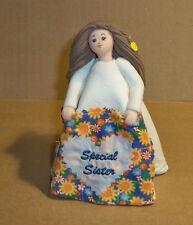 """(N) Kneeded Angel, """"Sister Quilt"""" Figurine. 2004"""