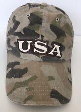 USA ARMY 3 Star Cap Hat Camo Adjustable Belt 100% Cotton