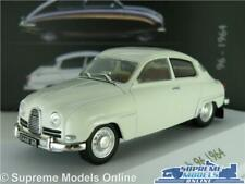 SAAB 96 MODEL CAR MUSEUM WHITE 1964 1:43 SCALE IXO ATLAS 3898002 COLLECTION K8