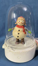 Hallmark 2008 ~ Happy Tappers SNOWMAN ~ Musical Dancing Motion Globe NEW