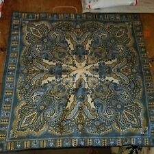 """Pottery Barn """"Mansfield Paisley - Blue 24"""" Linen Pillow Cover"""