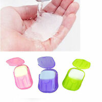 Camp Travel Supplies Washing Slice Sheets Hand Bath Scented Foaming Paper Soap z