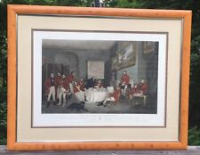 "Chas G. Lewis - The Melton Breakfast - Engraving Painted by E. Grant 43."" Framed"
